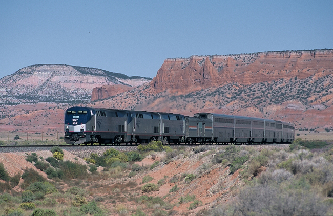 The Southwest Chief travels between Los Angele, Kansas City and Chicago.