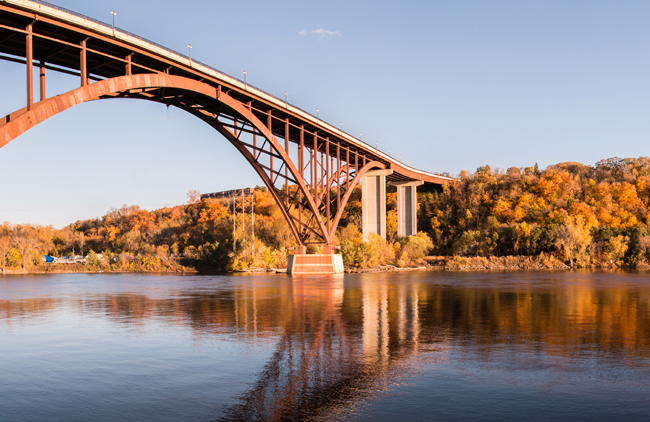 Saint Paul's High Bridge over the Mississippi River in Fall, courtesy Visit Saint Paul